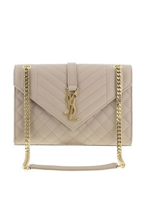 YSL envelop embossed leather bag for rent in UAE