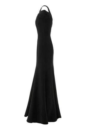 Marchesa Notte cold shoulder black gown for rent in UAE