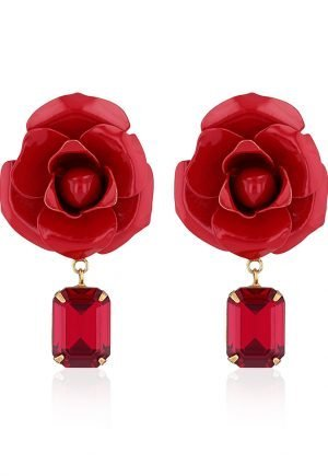Jennifer Behr Cordelia Earrings in Crimson for rent on Tutnod in UAE