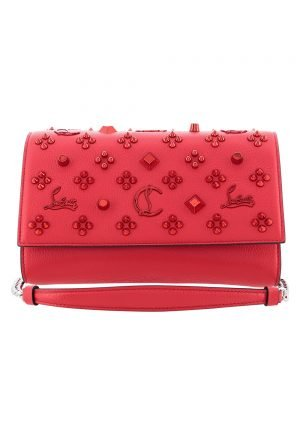 Christian Louboutin Paloma Embellished leather clutch for rent UAE