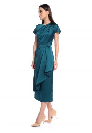 Rayane Bacha Satin Asymmetrical dress