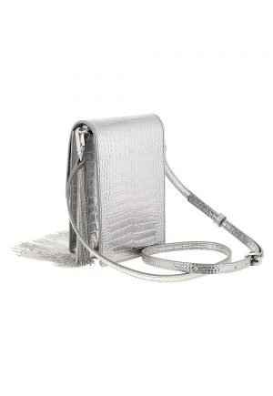 Pinko Smart Bag Metal Fringes in Leather for rent in UAE